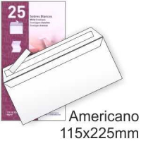 Pack 25 Sobres Autodex Blancos 115x225mm