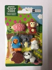 Blister gomas puzzle Iwako-MR Animales del Bosque