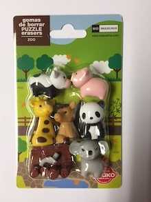 Blister gomas puzzle Iwako-MR Zoo