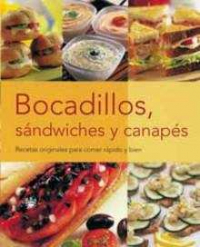 Bocadillos, sandwiches y canapes